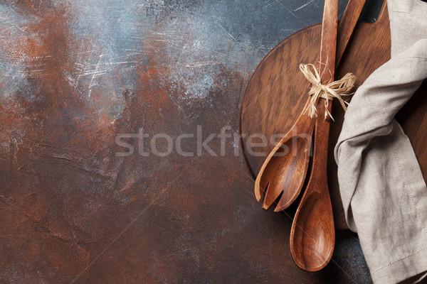 ヴィンテージ キッチン まな板 料理 先頭 ストックフォト © karandaev