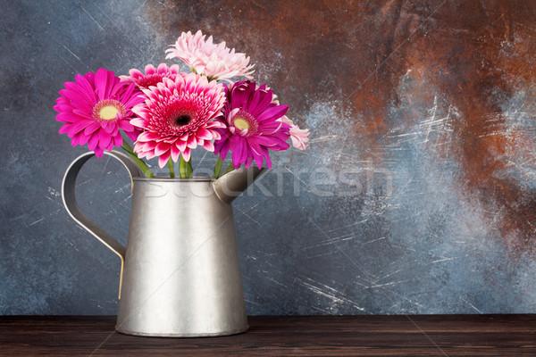 Gerbera flowers bouquet Stock photo © karandaev