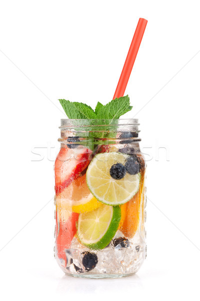 Fraîches limonade jar été fruits baies Photo stock © karandaev