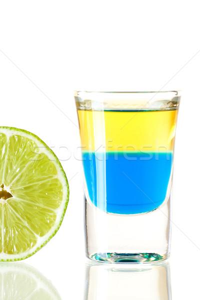 Shot cocktail collectie Blauw tequila alcohol Stockfoto © karandaev
