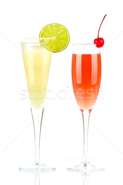 Pernod Fizz and Millennium alcohol cocktails Stock photo © karandaev