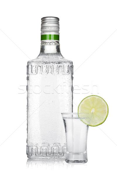 ボトル 銀 テキーラ ショット 石灰 スライス ストックフォト © karandaev