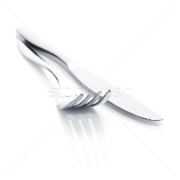 Silverware or flatware set of fork and knife Stock photo © karandaev