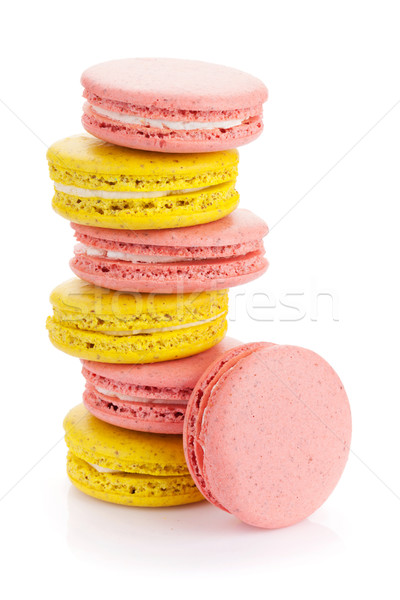 Colorful macaron cookies Stock photo © karandaev