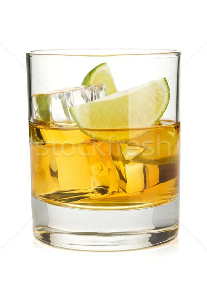 Whiskey cocktail with lime Stock photo © karandaev
