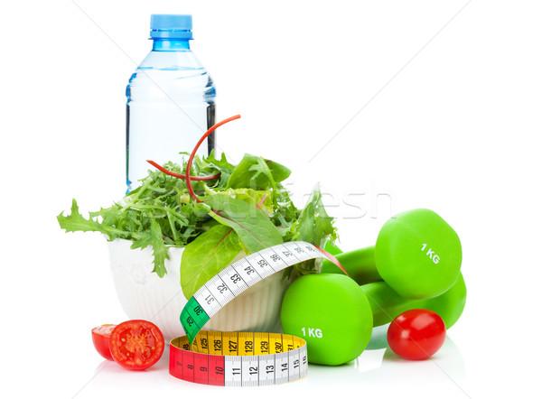 Fita métrica alimentação saudável fitness saúde isolado branco Foto stock © karandaev