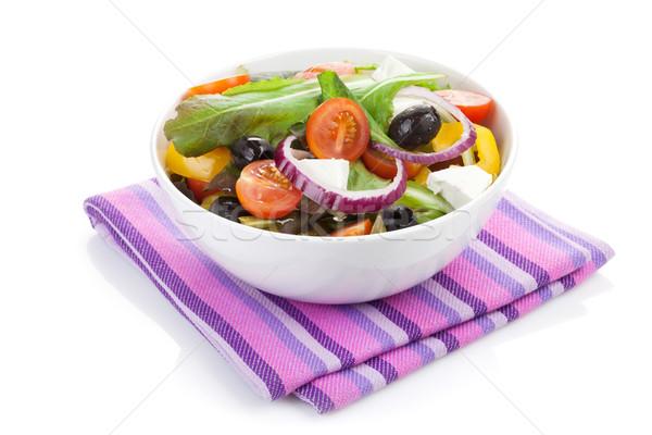 Fresh healty salad bowl Stock photo © karandaev