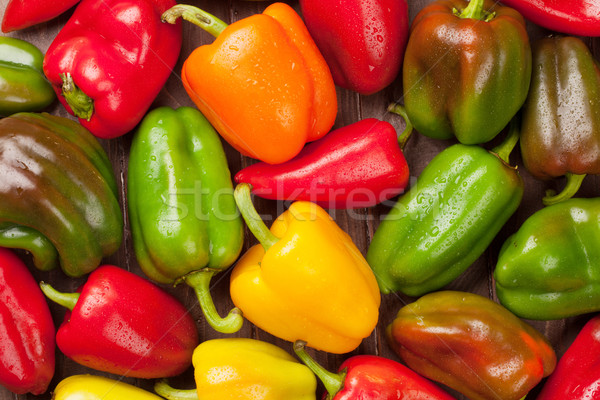Fresh colorful bell peppers Stock photo © karandaev