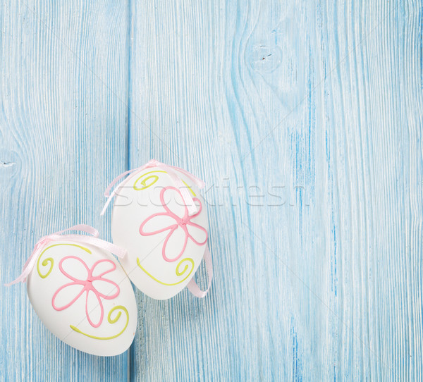 Easter background with eggs Stock photo © karandaev