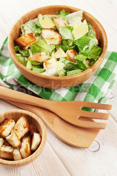 Taze sağlıklı ahşap masa gıda arka plan Stok fotoğraf © karandaev