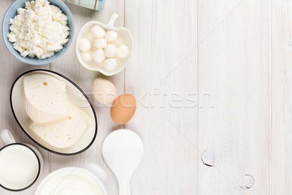 Tejföl tej sajt tojások joghurt tejtermékek Stock fotó © karandaev