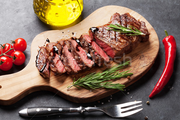 Stock photo: Grilled striploin steak