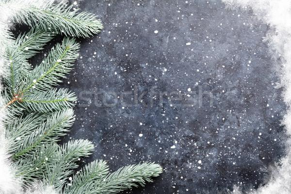 Foto d'archivio: Natale · neve · pietra · texture · copia · spazio