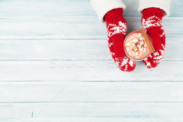 женщины рук горячий шоколад проскурняк Сток-фото © karandaev