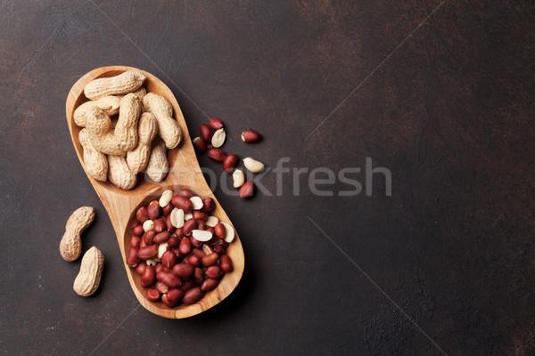 Arachide noix bol haut vue espace Photo stock © karandaev