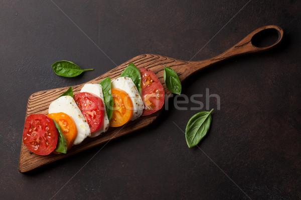 салат Капрезе помидоров базилик моцарелла Top мнение Сток-фото © karandaev