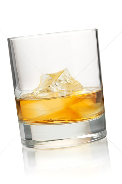 Glass of whiskey Stock photo © karandaev