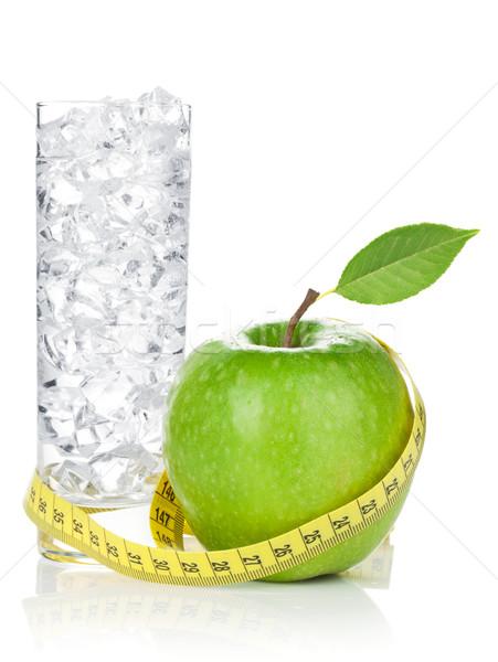 свежие зеленый яблоко желтый стекла Сток-фото © karandaev
