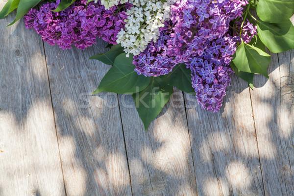 Сток-фото: красочный · сирень · цветы · саду · таблице · Top