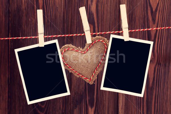 Stock fotó: Valentin · nap · szív · játék · fotók · fotó · keret