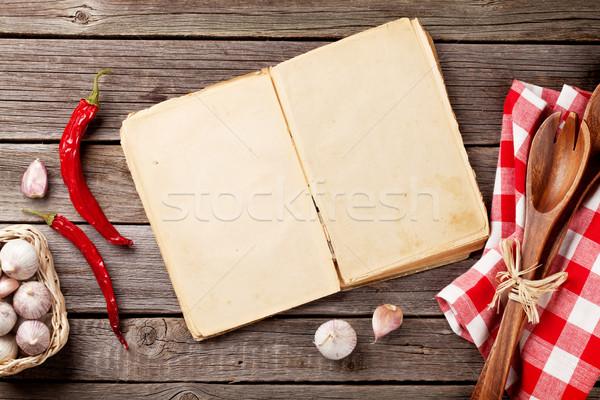 Vintage ricetta libro ingredienti cottura Foto d'archivio © karandaev