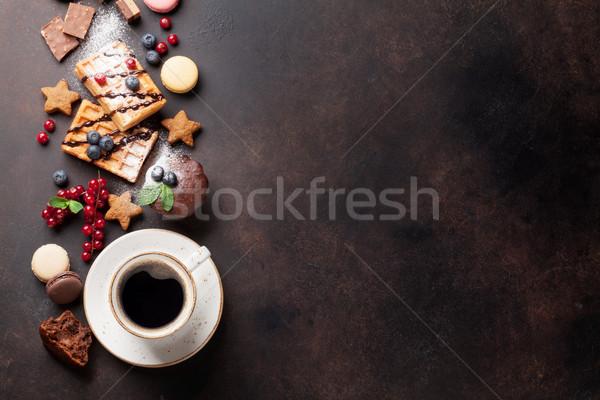 Сток-фото: кофе · конфеты · Ягоды · Top · мнение · копия · пространства