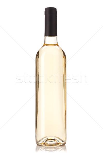 Bottiglia di vino bianco isolato bianco verde bar bottiglia Foto d'archivio © karandaev