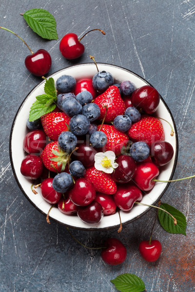 Fresh summer berries Stock photo © karandaev