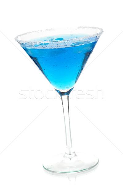 Coquetel coleção azul martini isolado branco Foto stock © karandaev