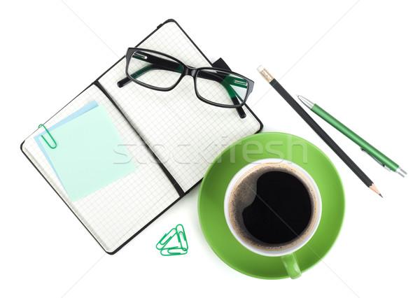 Xícara de café branco negócio escritório Foto stock © karandaev