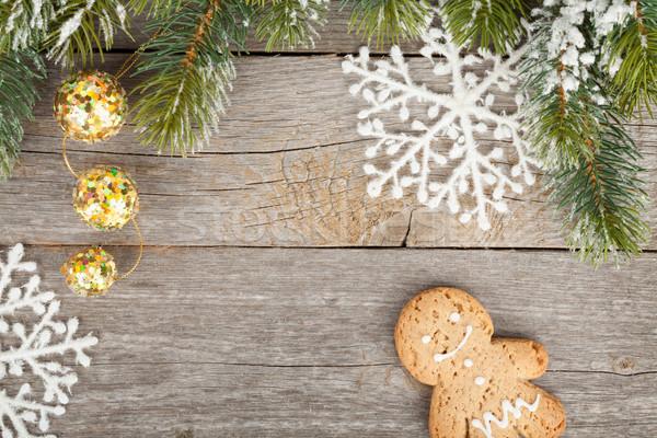 クリスマス 装飾 木板 カバー 雪 ストックフォト © karandaev