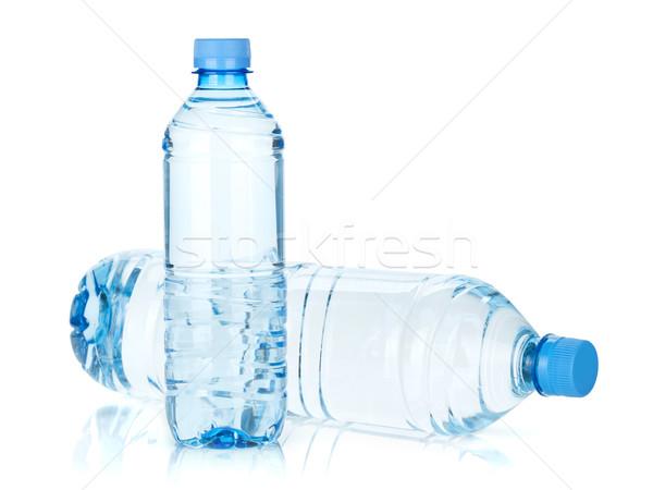 Deux eau bouteilles isolé blanche fond Photo stock © karandaev