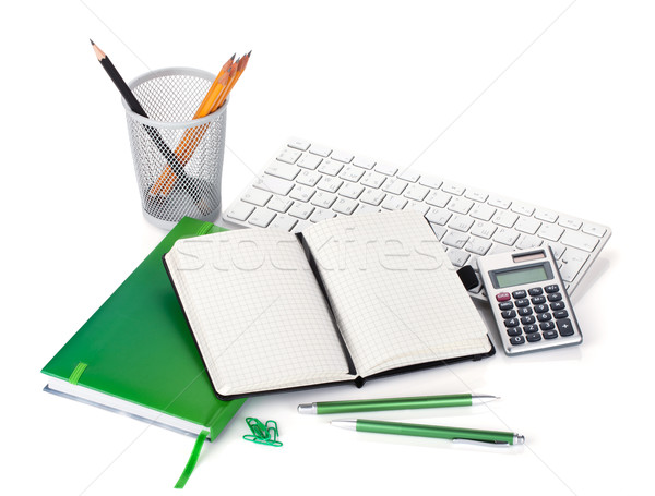 Office supplies, keyboard and calculator Stock photo © karandaev