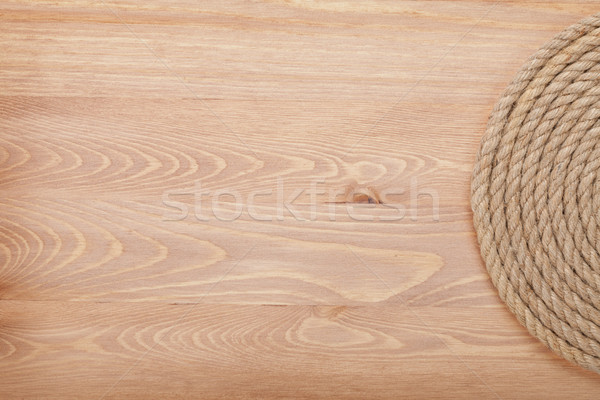 Roll of ship rope Stock photo © karandaev