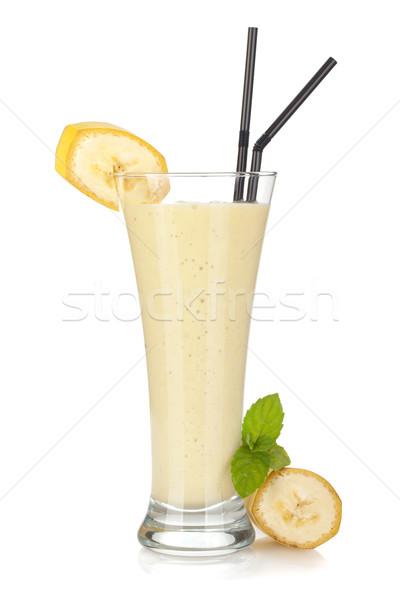 Banana milk smoothie Stock photo © karandaev