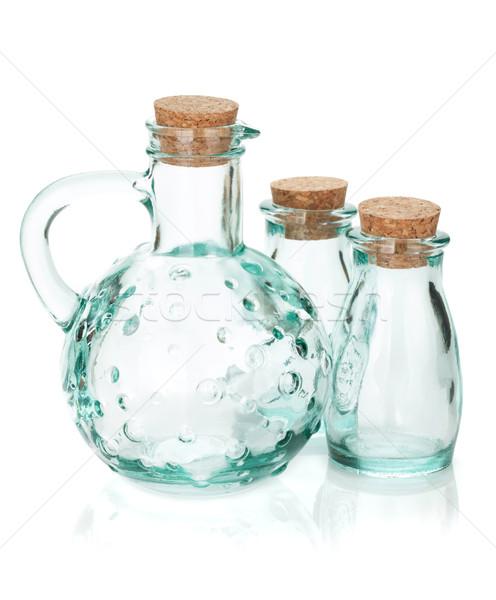 Glass bottles for seasoning Stock photo © karandaev
