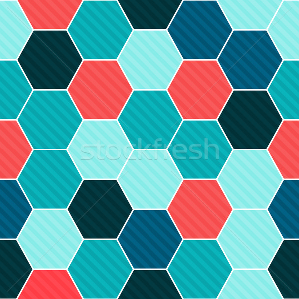 Hexagon seamless pattern Stock photo © karandaev