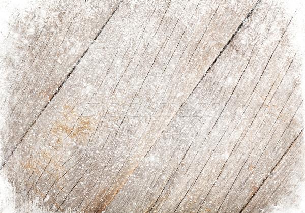 古い木材 テクスチャ 雪 クリスマス 木材 壁 ストックフォト © karandaev