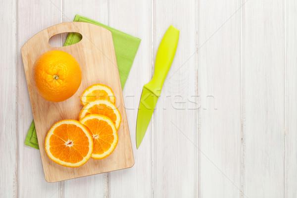 оранжевый разделочная доска Top мнение Сток-фото © karandaev