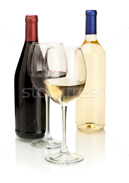 White and red wine Stock photo © karandaev