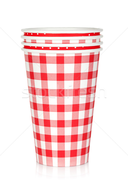 Disposable paper cups Stock photo © karandaev