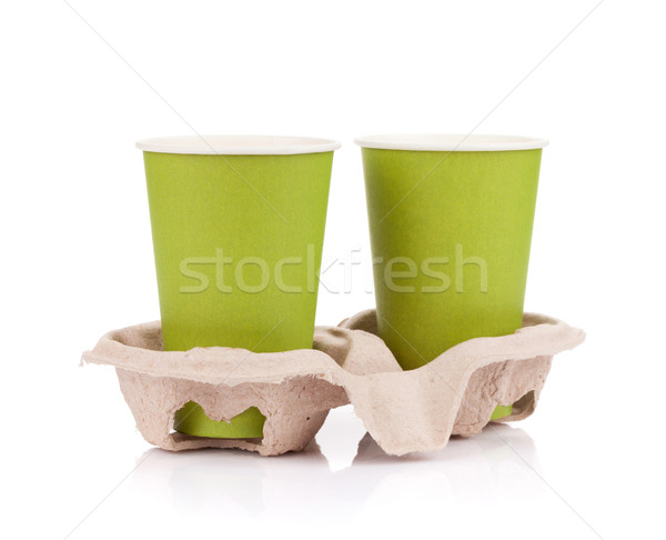 Two paper cups with takeaway drinks Stock photo © karandaev