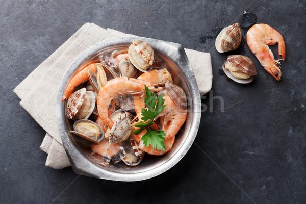 Fresh seafood Stock photo © karandaev