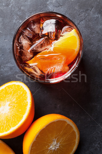 Stock photo: Negroni cocktail