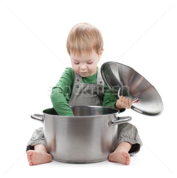 ребенка приготовления изолированный белый ребенка фон Сток-фото © karandaev