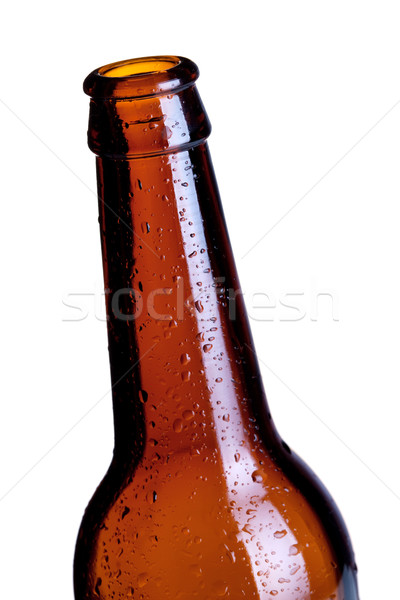 Empty beer bottle closeup Stock photo © karandaev