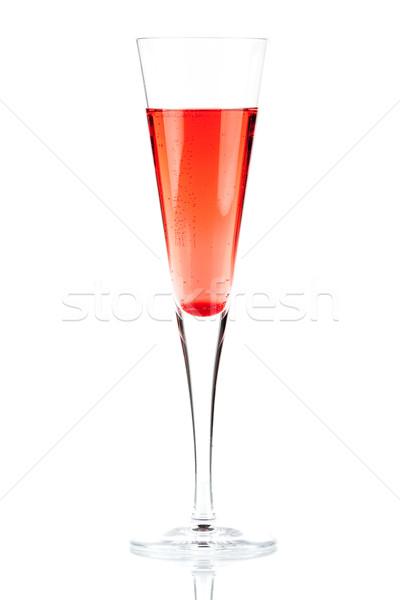 Red Champagne alcohol cocktail Stock photo © karandaev