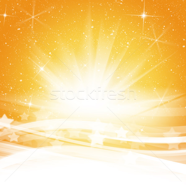 Stock photo: Abstract yellow wave background