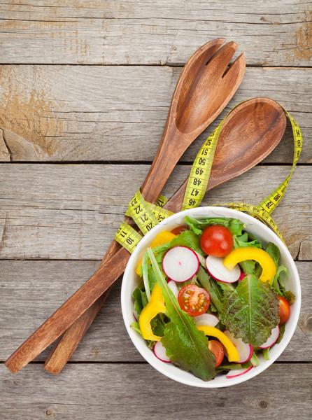 Fresh healty salad Stock photo © karandaev