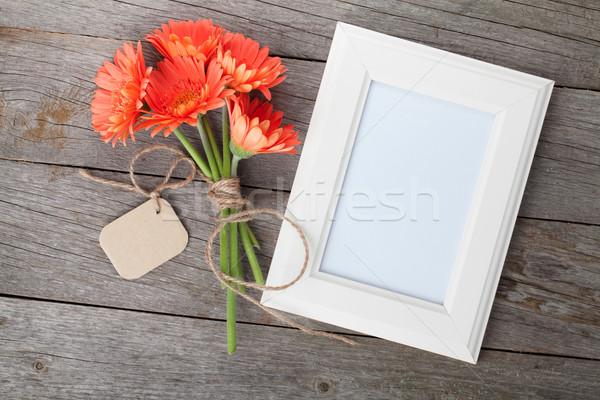 Сток-фото: цветы · деревянный · стол · цветок · природы